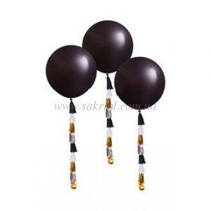 Большие черные шары с гелием