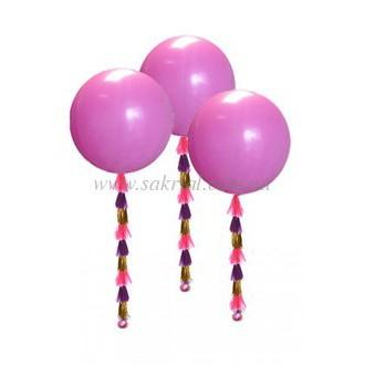 Купить набор из трех больших 70 см шариков