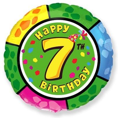 шар круг с рисунком цифры 7