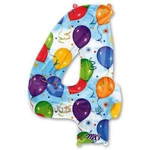 Цифра воздушные шарики 4 (четыре)