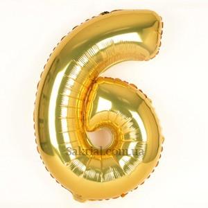 Золотая цифра 6 на День рождения ребенка