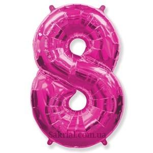 Гелиевый шар-цифра 8 фуксия