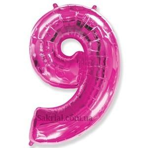 Цифра 9 воздушный фольгированный шар цифра