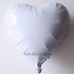 Купить Шарик Белое Сердце