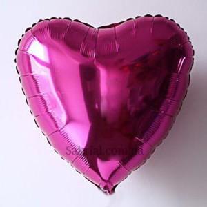 Фольгированный шар сердце фуксия