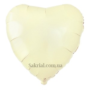 ольгированный шар Сердце слоновая кость