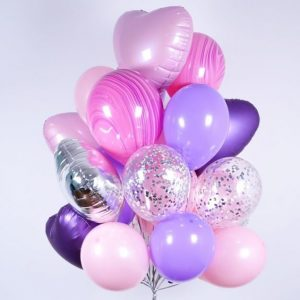 Купить нежный набор шаров на день рождения