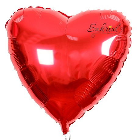 Красное сердце шарик