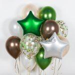 Набор шаров в зеленых цветах