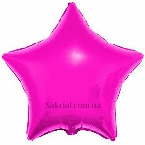 Фольгированный шар звезда фуксия
