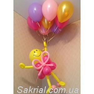Девочка на воздушных шарах