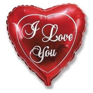 Купить Сердце Шар I Love You