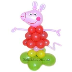 Купить Свинку Пеппу из шаров