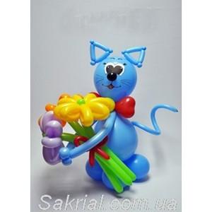 Купить синего Кота из шаров