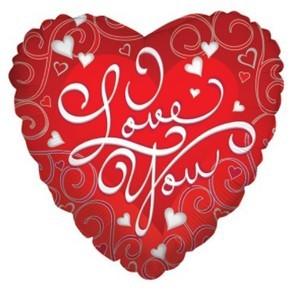 Заказать Сердце Шар I Love You в Киеве