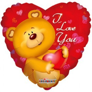 Купить Сердце Шар I Love You Медведь