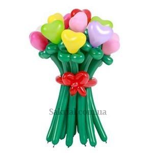 Букет цветов из шариков в букете 11 цветочков