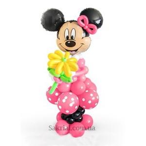 Купить Большую фигуру Минни Маус из шаров