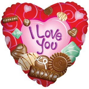 Купить Сердце Шар I Love You Шоколад