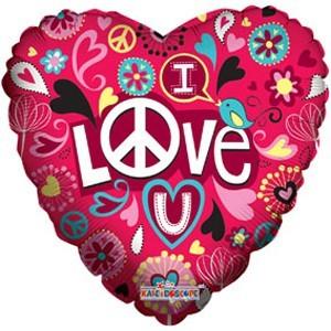 Купить Сердце Шар I Love You Безумно