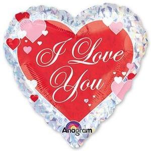 Купить Сердце Шар I Love You Голография