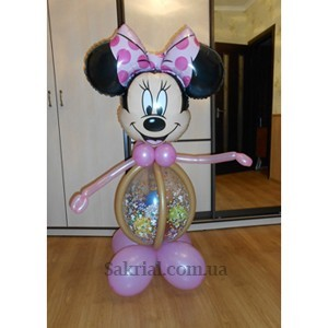 Купить Минни Маус из надувных шаров