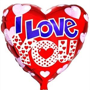 Купить Сердце Шар I Love You в Киеве на Оболони