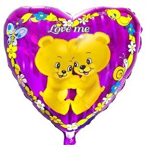 Купить Сердце Шар Love Me Медвежата
