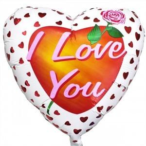 Купить Сердце Шар I Love You Роза