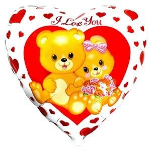 Купить Сердце Шар I Love You Влюбленные Медвежата