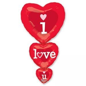 Купить Сердце Шар I Love You из Трех Шариков