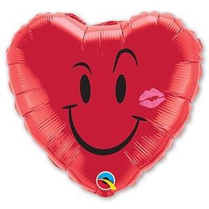 Купить Сердце Шар I Love You Смайл