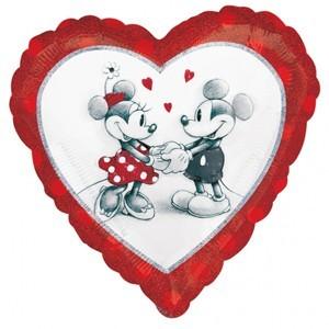 Купить Сердце Шар I Love You Микимаусы