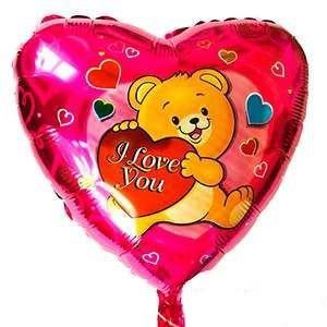 Купить Сердце Шар I Love You Сердце и Мишка