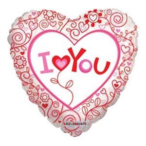 Купить Сердце Шар I Love You Прозрачный