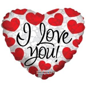 Купить Сердце Шар I Love You Любимой Девушке