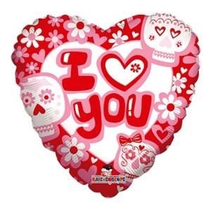 Купить Сердце Шар I Love You Мексиканское