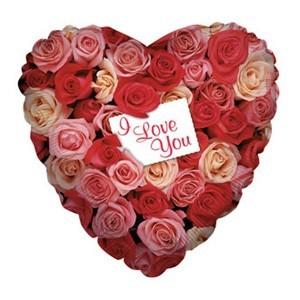 Купить Шар I Love You с Розами