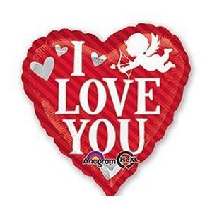 Купить Сердце Шар I Love You Купидон