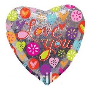 Купить Сердце Шар I Love You Цитрусы
