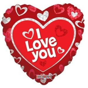 Купить Шарик Сердце I Love You