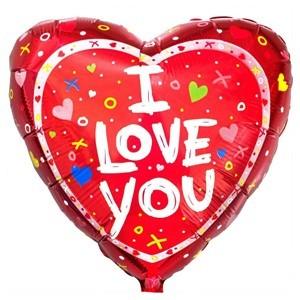 Купить Сердце Шар I Love You Символы