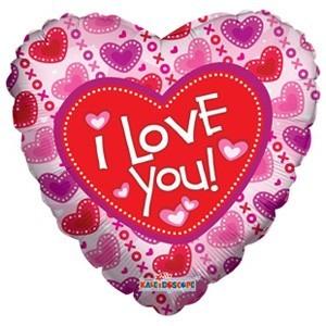 Купить Сердце Шар I Love You XOXO