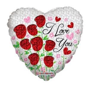 Купить Сердце Шар I Love You Розочки