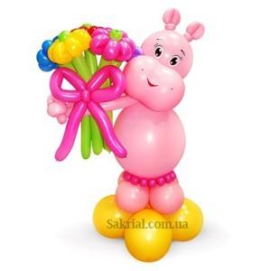 Купить бегемотика из воздушных шаров