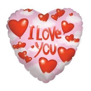 Купить Сердце Шар I Love You Воздушное