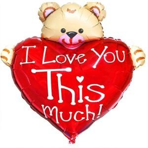 Купить Сердце Шар I Love You This Much