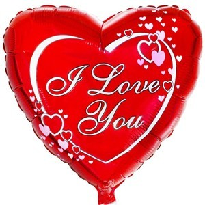 Купить Сердце Шар I Love You Классическое