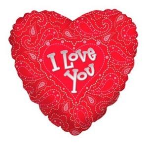 Купить Сердце Шар I Love You Оригинальное
