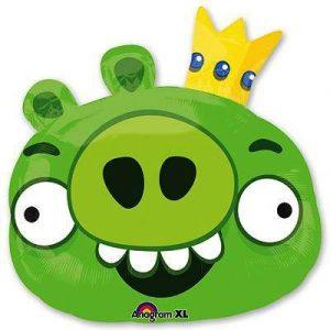 Купить фольгированный шар Angry Birds Король Свиней